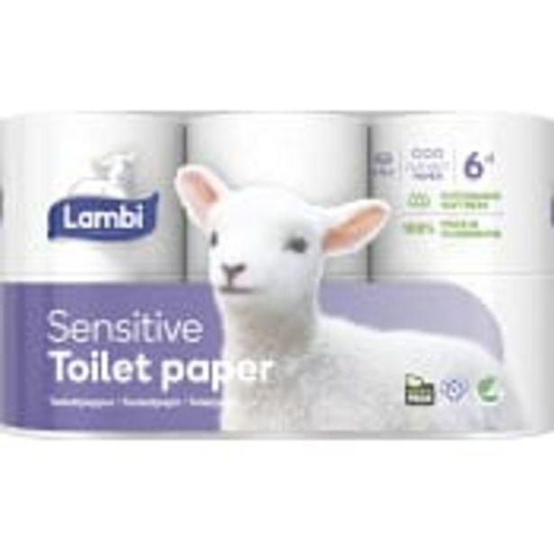 Toalettpapper Sensitive 6-p Lambi för 41,9 kr