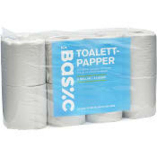 Toalettpapper 8-p Miljömärkt ICA Basic för 14,9 kr