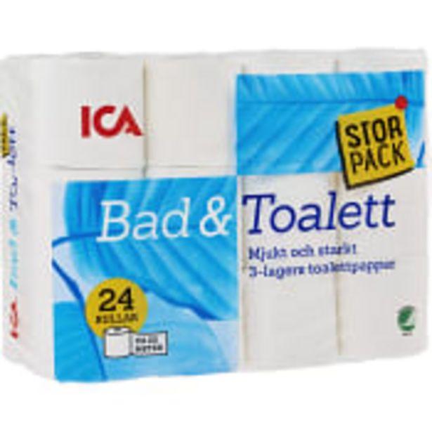 Toalettpapper 24-p Miljömärkt ICA för 90,9 kr