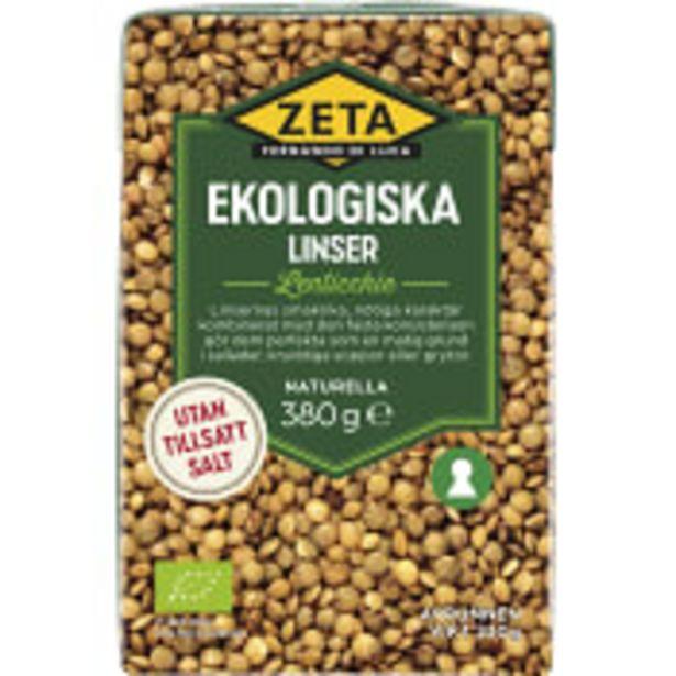 Linser Ekologisk 380g Zeta för 13,9 kr