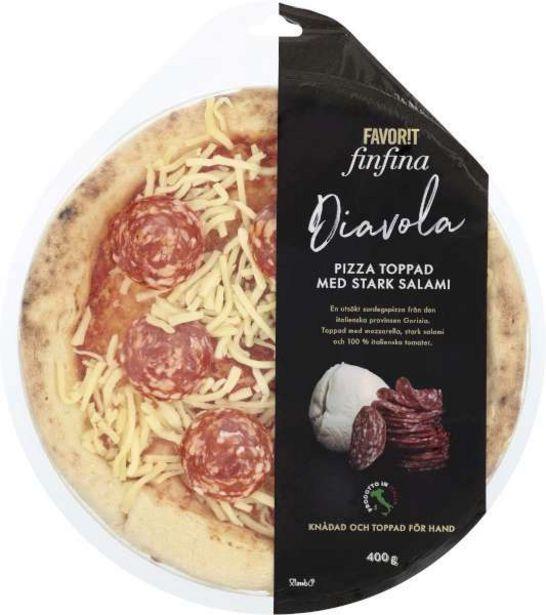 Pizza Diavola för 54,95 kr