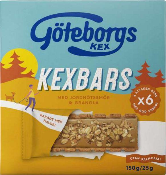 Kexbars Fyllda Kex Jordnöt/Granola 6-Pack för 27,95 kr