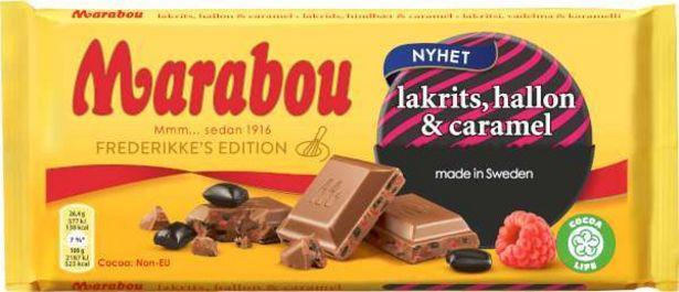 Chokladkaka Lakrits/Hallon/Caramel för 18,95 kr