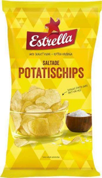 Chips Lättsaltade för 21,5 kr