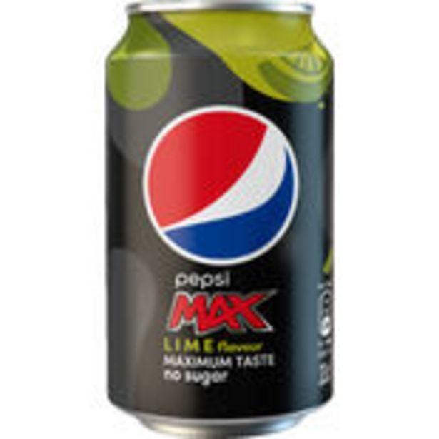 Pepsi Max Lime Läsk Burk Pepsi 33cl för 86,4 kr