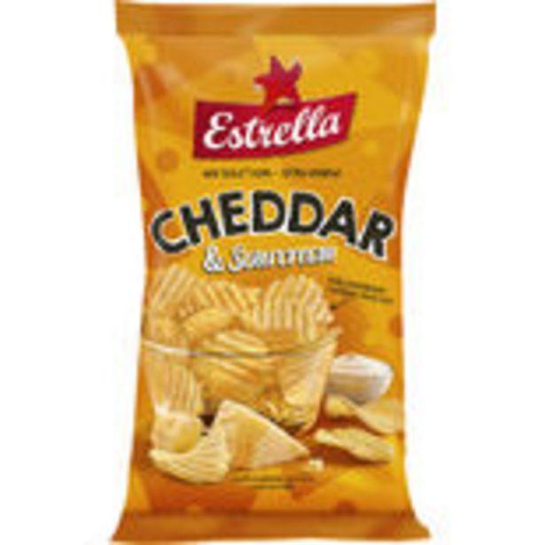 Cheddar Sourcream Chips Estrella 175g för 272,79 kr