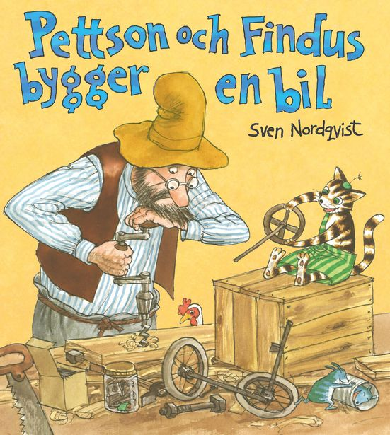 Pettson och findus bygger en bil inbunden för 158 kr
