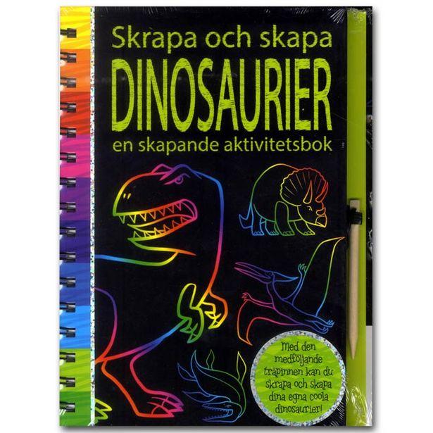 Skrapa och skapa - Dinosaurier för 109 kr