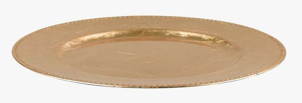 Gloss undertallrik guld för 23,94 kr
